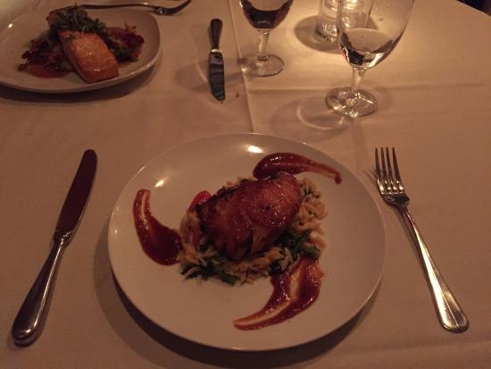 Tosca Restaurant : Sea Bass, that sauce was amazing !