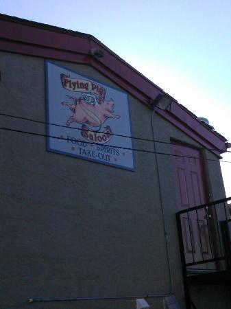 Flying Pig Saloon : Back of pub