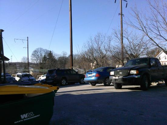 Flying Pig Saloon : The whole parking lot!