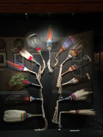 Museum of Native American History : This display of feather wands glows with stunning beauty. All displays are artful and well light
