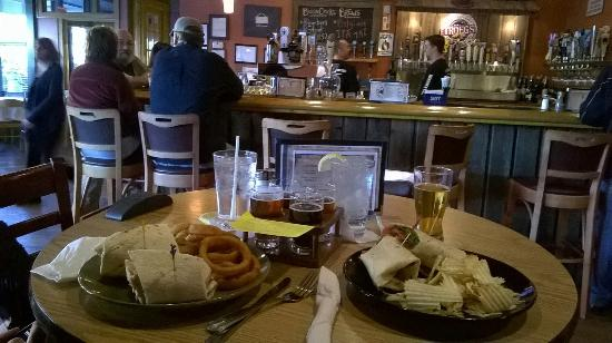 Boondocks Brewing : Our meal 1.10.15