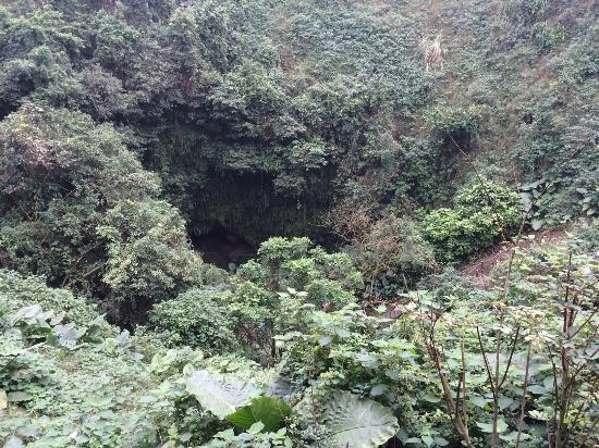 Huoshankou National Geopark: mouth of the volcano