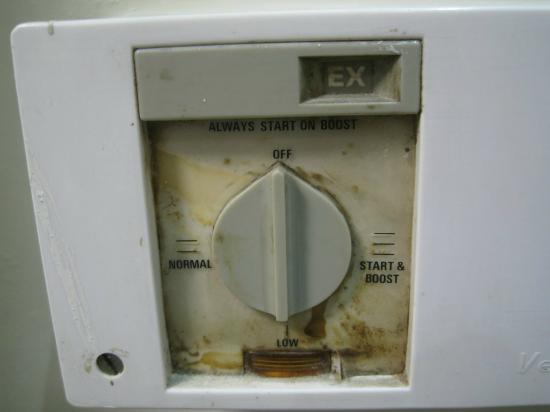 Grantly Hotel: Dirty climate control knob