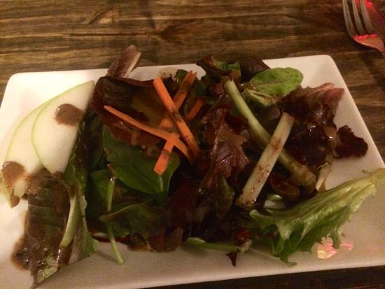 From The Garden: Artisanal salad with honey balsamic vinaigrette
