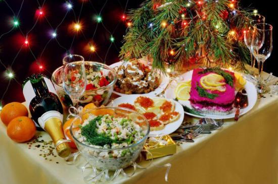 Taste of Europe: New Year table
