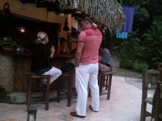 Yelapa Oasis: The open air bar area
