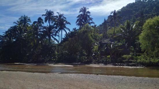 Yelapa Oasis: Looking back over the river towards Oasis