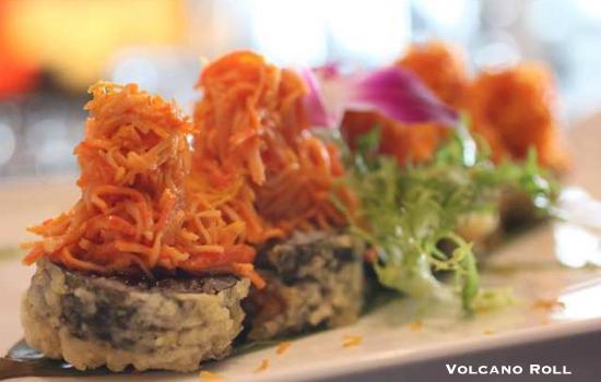 Volcano roll photo de bushido asian restaurant bar for Accord asian cuisine