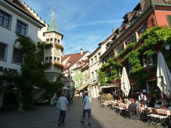 Gasthof zum Baren: Hotel Baeren Towers on Left Top of Hill