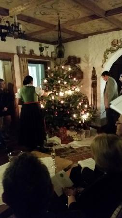 Pension Sabine: the christmas tree with little fireworks