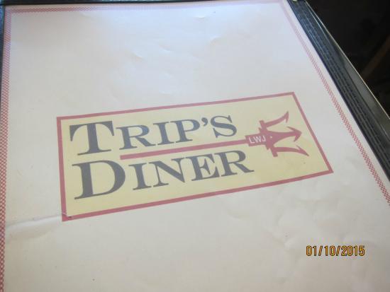 Trip's Diner: menu