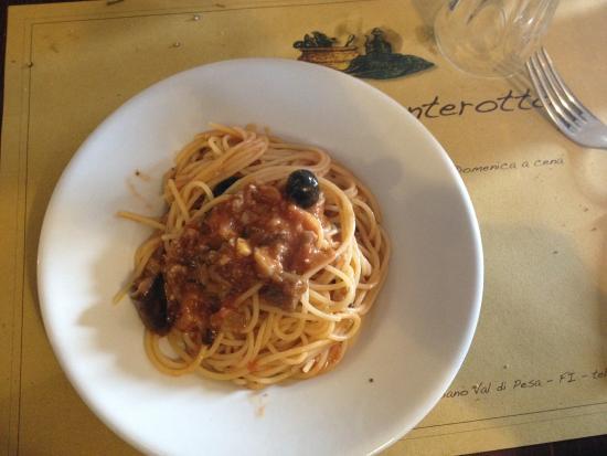 Trattoria Ponterotto: Spaghetti Boscaiola