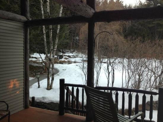 Friends Lake Inn: Our own private porch