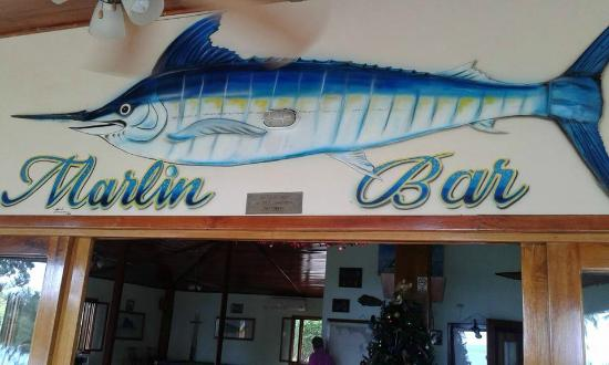 Hooked On Panama Fishing Lodge : Bar at the clubhouser
