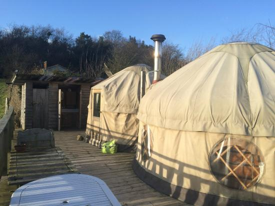 Offas Dyke Yurts : Yurts outside
