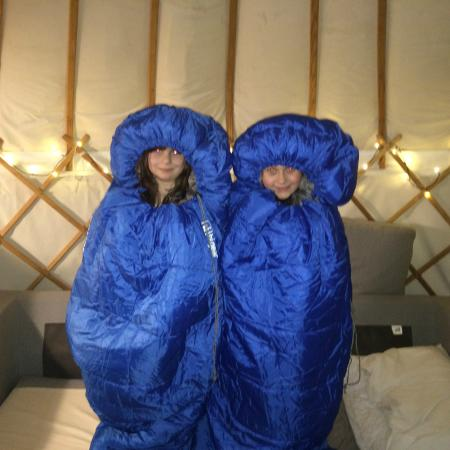 Offas Dyke Yurts : Kids all cosy!