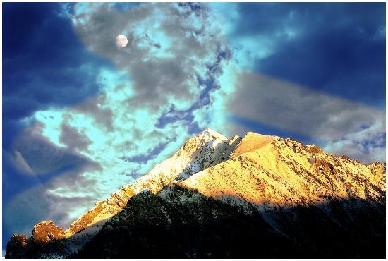Val Masino, Italien: Filorera - tramonto in ValMasino