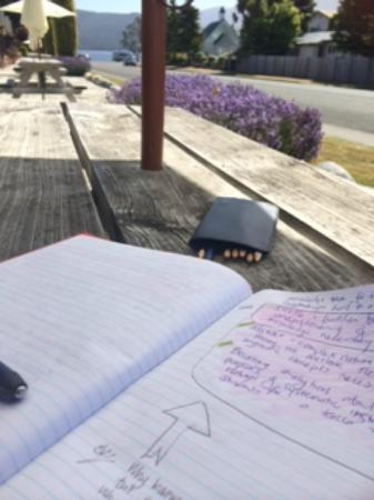 Lakefront Lodge: taking time out to write