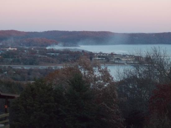 Table Rock Lake: My person view of the lake and Kimberling City from my home