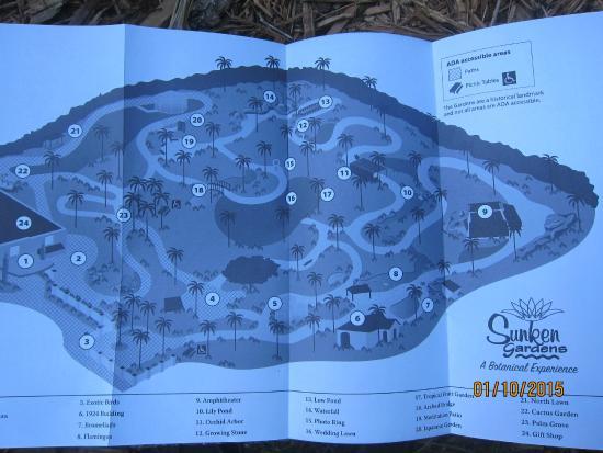 Sunken Gardens: map