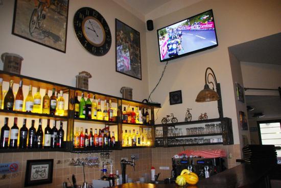 La Bicicletta Restaurant & Cafe: Impreza kolarska.