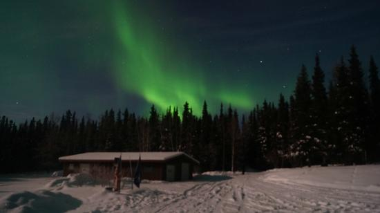 Ester, AK: View of Auroras directly outside the lodge