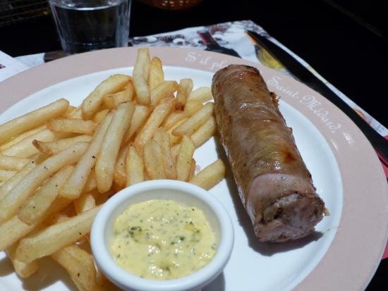Grill Courtepaille: l'andouillette grillée