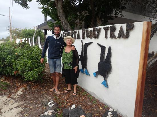 Frank Cornelisson and I had a fabulous fruitata at the Booby Trap after an early morning aquatic