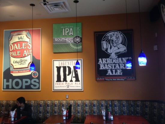 Frisco Tap House and Brewery: With a wall like this, you know you're in a crafty place