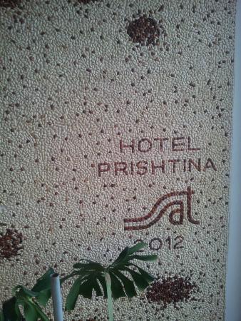 Hotel Prishtina: The wall made of beans