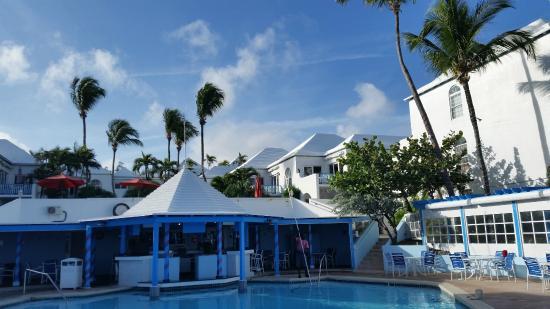 Paradise Island Beach Club Pool And Restaurant Area