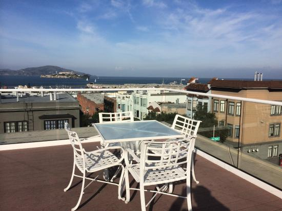 Suites at Fisherman's Wharf : Beautiful views from rooftop deck
