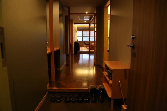 Iroha : From the room door looking into a deep, good-sized room
