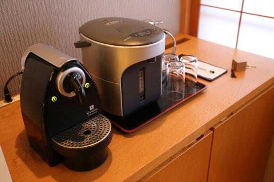 Iroha : Hot water dispenser and Nespresso