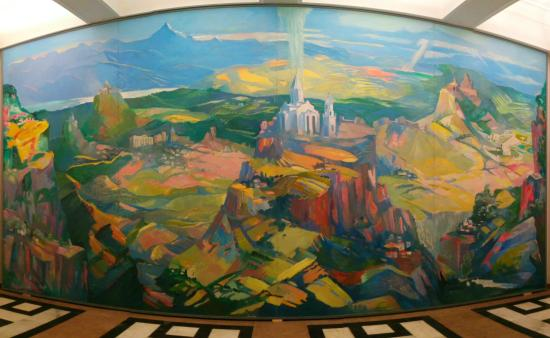 National Art Gallery: This large painting is one of the only truly colorful pieces of art in the collection.