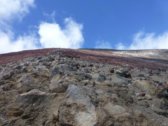 Mount Ngauruhoe: Looking up to the top - half way up