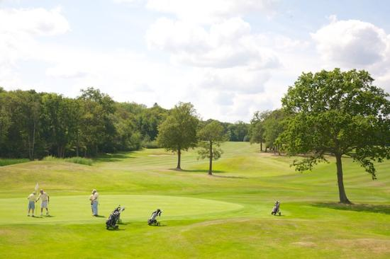 East Horsley, UK: 18th hole