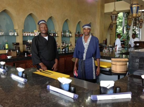 Tamarind Mombasa: The cooks in the Tamarind Sushi Bar