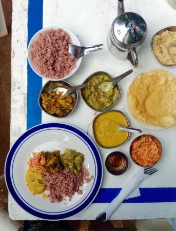 Jina's Vegetarian and Vegan Restaurant : Curry & rice.