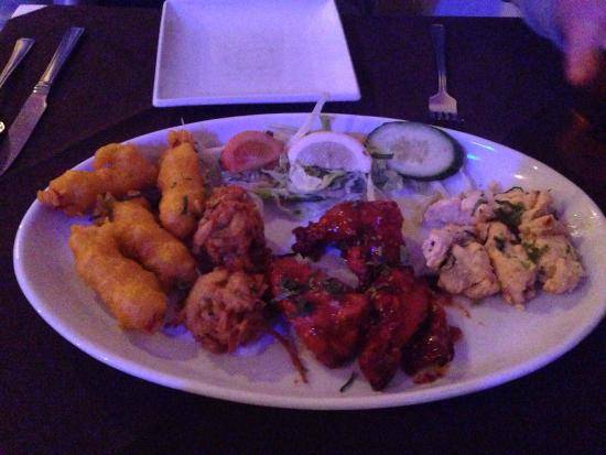 Sizzler Indian Restaurant: Always delisious loads of starters to choose from and cheap x