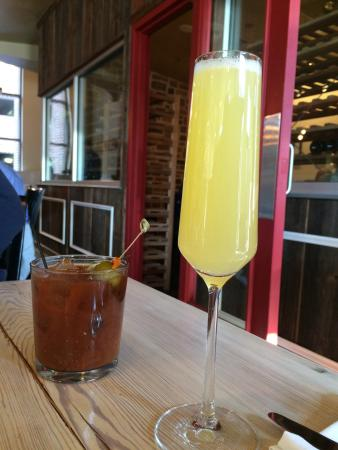 The Wine Kitchen : Mimosa & Bloody Mary! Nice and strong!