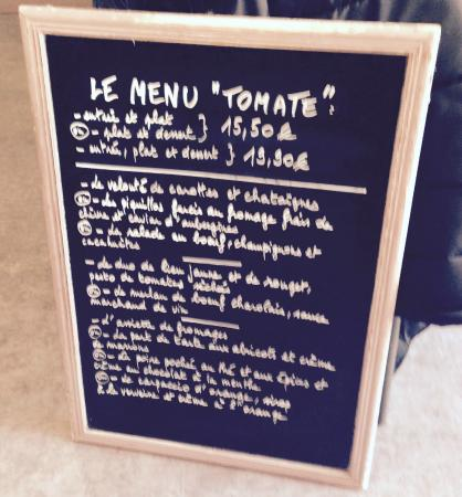 Nevers, France : Menu du jour