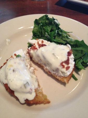 Fried green tomatoes with goat cheese picture of hops - Italian garden boiling springs nc ...