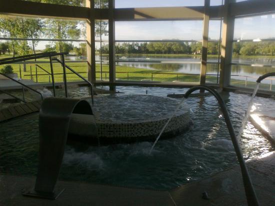 Termas Villa Elisa: Interior del Spa...  increíble vista al lago