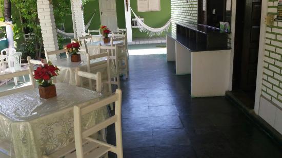 Pousada Republica do Sol: Aréa onde toma cafe da manhã
