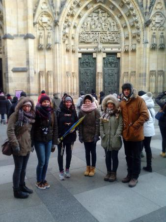 Pavel's Personal Prague Tour: It was very cold that day, December 28 2014.