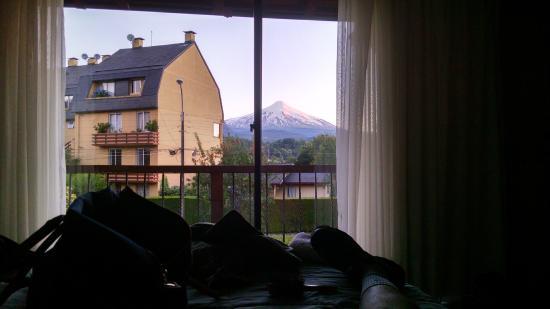 Frontera Pucon Hostel B&B: Vista da suíte