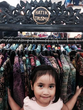 Suasana Toko Batik Salma - Picture of Batik Trusmi, Cirebon ...