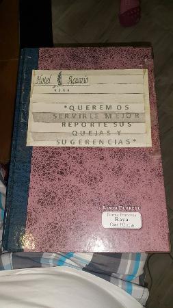 Acuario de Veracruz Hotel: Libro del hotel