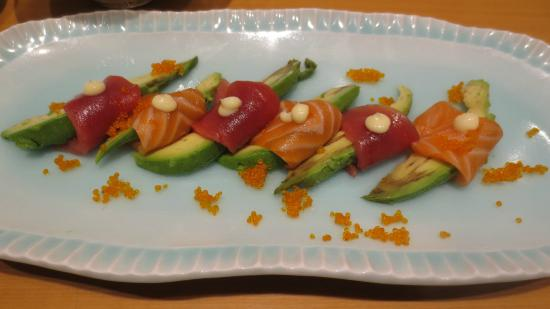 Sushi Seizan: Appetizer (Avocado with Tuna/Salmon)